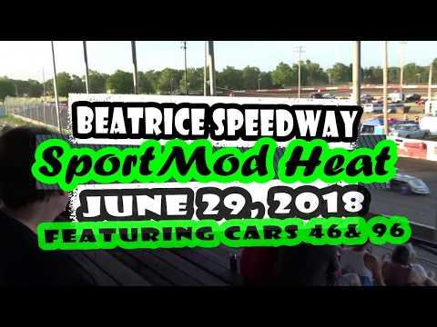 06/29/2018 BEATRICE SPEEDWAY SPORT MOD HEAT, CARS 46 & 96