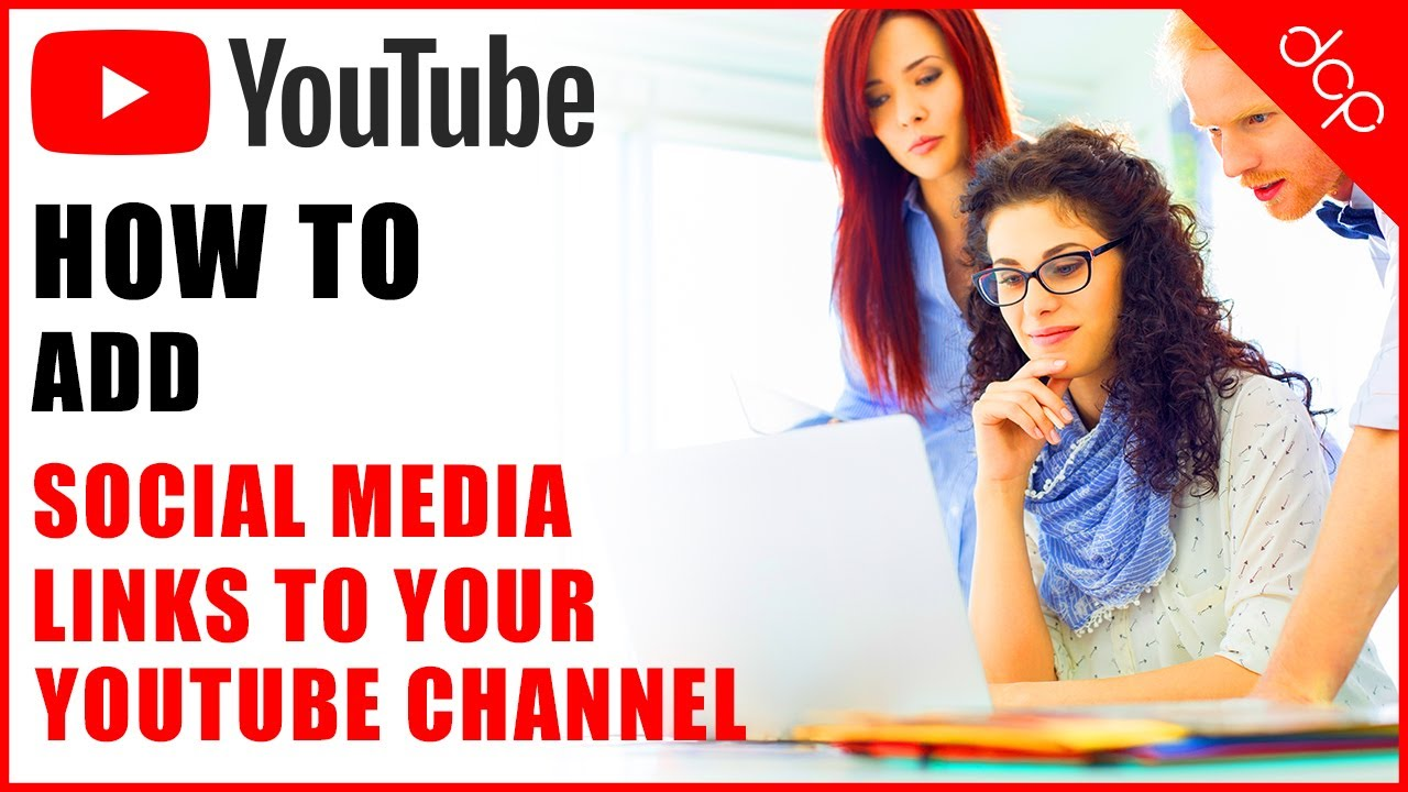 How to add social media icons and links to your YouTube