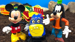 Mickey Mouse Clubhouse Part 5 of 6 - Minnie Mouse Figaro Pluto Donald Duck and Train Toys for Kids