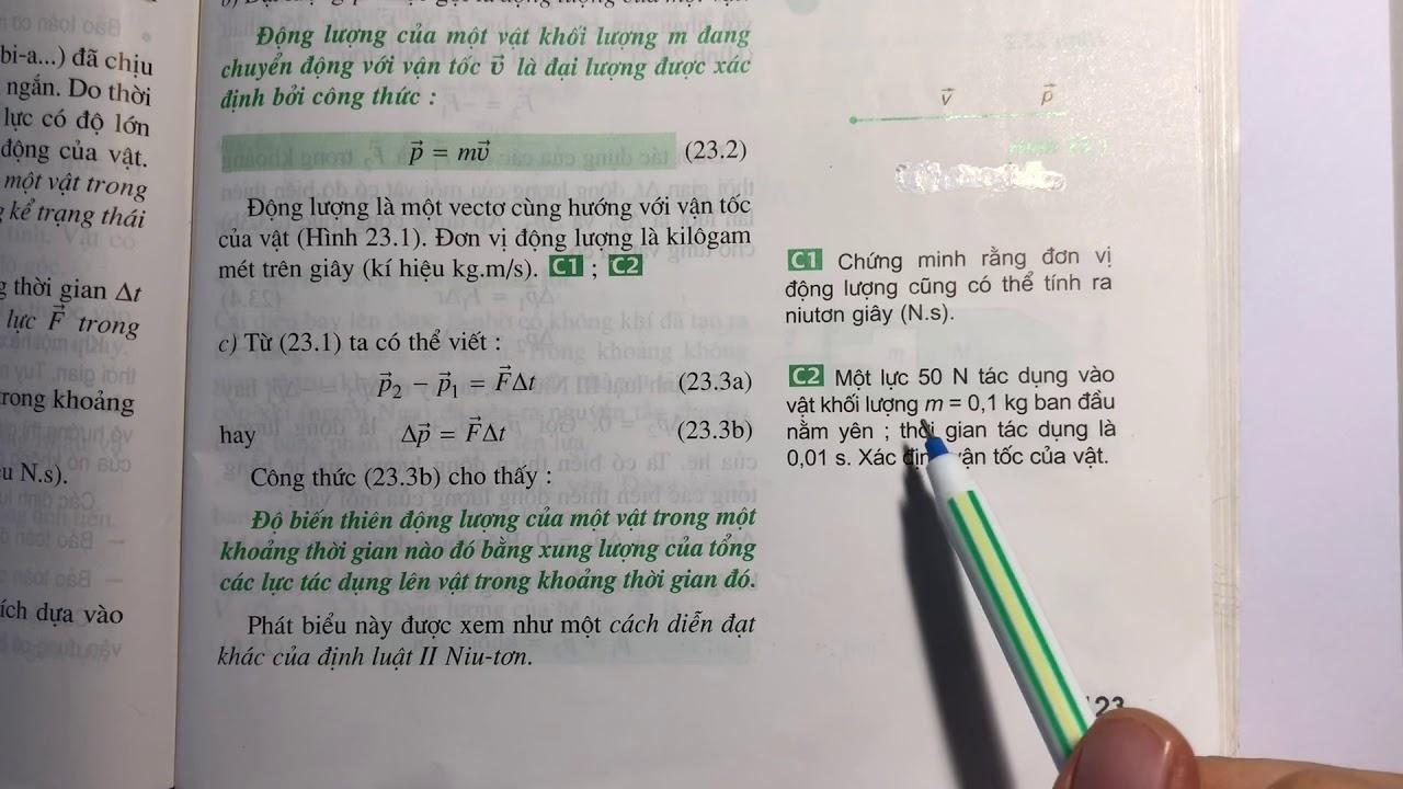 Trả lời câu C2 trang 123 SGK Vật lý 10