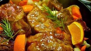 Телятина с апельсинами и черносливом. http://leoanta.ru/