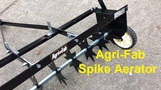 Agri-Fab 36-Inch Spike Aerator demonstration