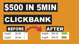 Clickbank For Beginners - Fastest Way to Make Money ($500 In 5 Min)