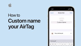 Download How to custom name your AirTag on iPhone, iPad, and iPod touch — Apple Support