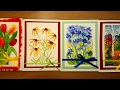 Painting 2 Greeting Cards With Schmincke Watercolors