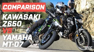 Yamaha MT-07 vs Kawasaki Z650 (2020) | Visordown.com