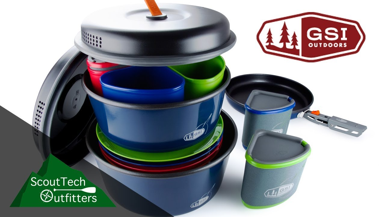 Gsi Bugaboo Camper Cookset Review The Ultimate Camping Kitchen Youtube