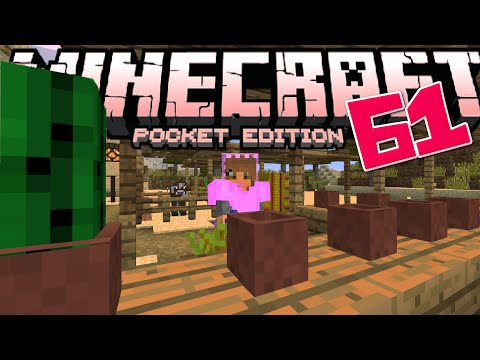 Minecraft PE (Pocket Edition) - Let's Play Ep.61 - Pottery, Veggie & Fabric Stands!