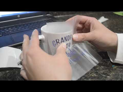 "How To Make A Mug with a Cricut Explore ""Grandpa are Dads Without Rules """