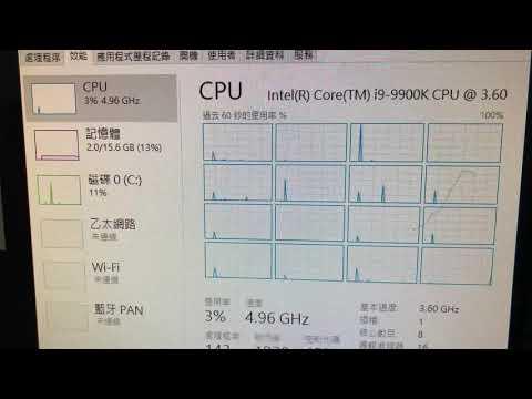 Intel Core i9-9900K 5GHz with Cinebench R15 test