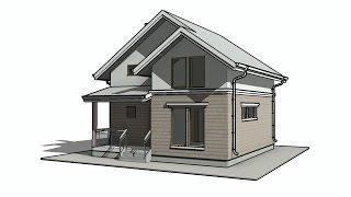 Каркасный дом с мансардой, размерами 7,5х8 метров, Проект КД-31(Проект КД-31 - это каркасный дом с мансардой, размерами 7,5 на 8 метров, с приятным внешним видом и практичной..., 2015-11-29T09:00:33.000Z)