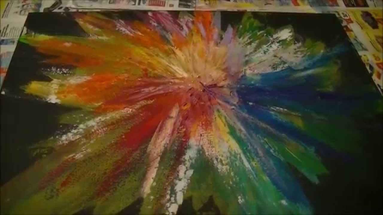Fabulous Schilderij maken binnen 2 uur, abstracte bloem - YouTube @XO65