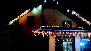 Новогоднее оформление домов,светодиодная гирлянда бахрома(Большой выбор светодиодных гирлянд. Качественный монтаж. Опт и розница. 098-7985360., 2014-11-29T20:00:56.000Z)