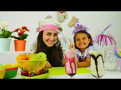 Bebek oyunları. Mini Mutfak: Milkshake yapıyoruz