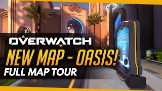 Overwatch | NEW MAP OASIS - Full Map Tour!
