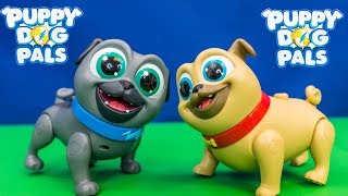 PUPPY DOG PALS Rolly and Bingo Funny Missions Toys Unboxing