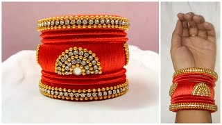 Latest silk thread bangle making at home I Easy and Simple bangles I Creative Diaries