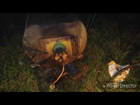 Homemade wood stove Hybrid oil burner