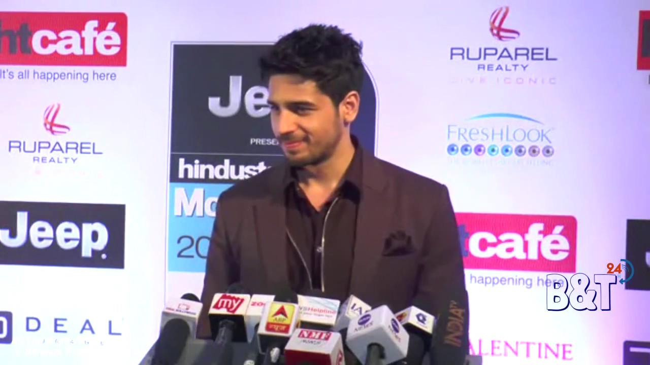 sidharth malhotra showing style at the red carpet of ht most