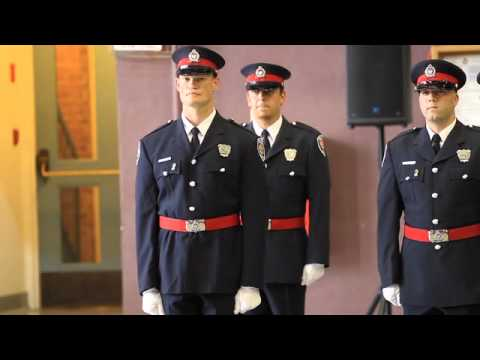 Proud new police officers