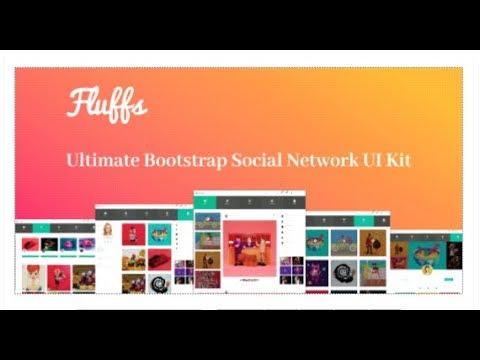 Fluffs Ultimate Bootstrap Social Network Ui Kit Themeforest