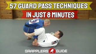 57 BJJ Guard Passing Techniques in Just 8 Minutes - Jason Scully