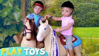 Дитячі Ляльки Верхова Їзда Іграшки Грати!