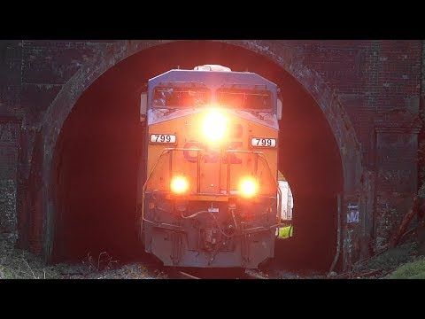 CSX Mixed Freight Train Coming Out Of Henryton Tunnel