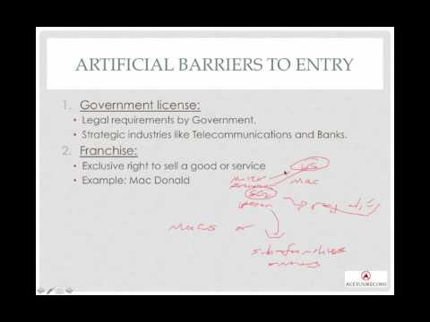 Monopoly - Barriers to Entry