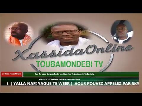 Diaspora sur la Radio Xassida online ToubaMondebi Touba Italie 11 febbraio 2018