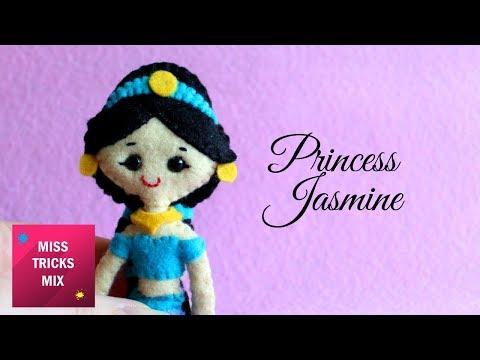 Princess Jasmine Felt Doll DIY Tutorial.
