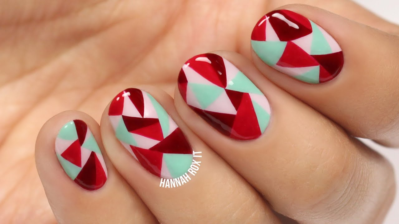 abstract geometric nail art