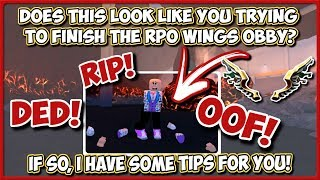 Roblox | UPDATED RPO Wings Obby Help + Quiz Answers | JixxyJax