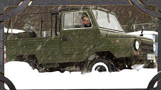Как прёт по снегу ЛуАЗ 969м?  Зимний тест-драйв.
