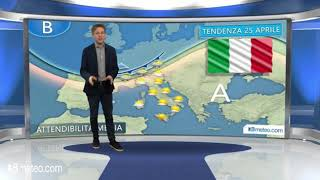 Tendenza meteo Italia 25 Aprile