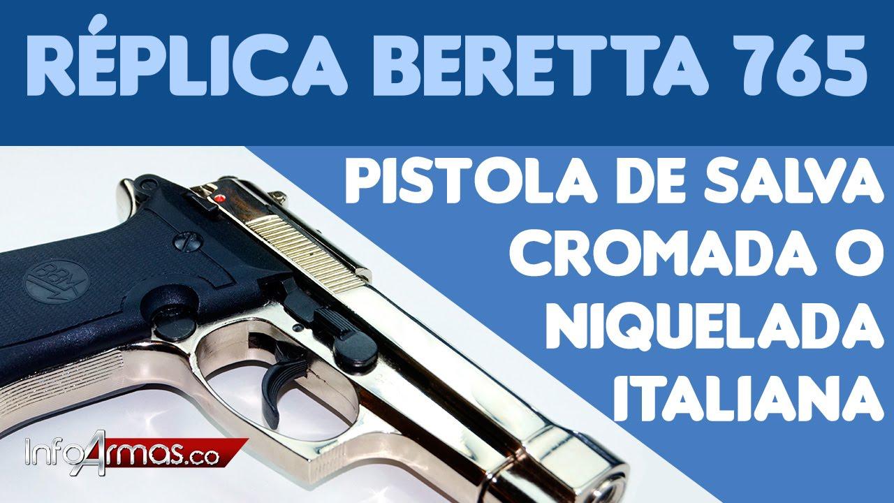 Pistola De Salva Beretta 765 Cromada O Niquelada Italiana