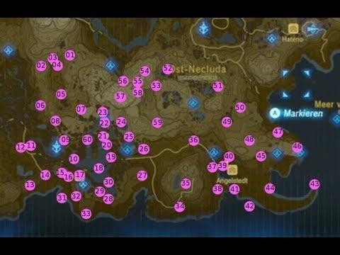 Zelda Krog Karte.The Legend Of Zelda Breath Of The Wild Alle Krogs Phirone