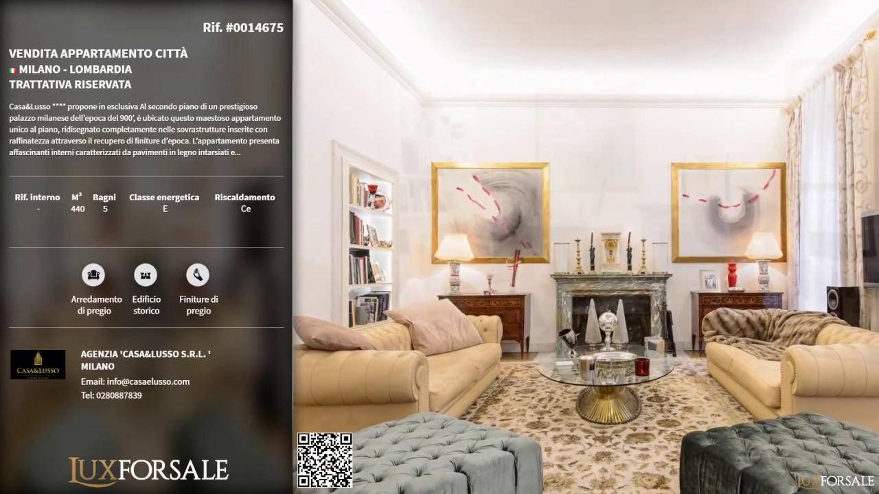 Luxforsale vendita appartamento milano citt youtube for Appartamenti di design milano