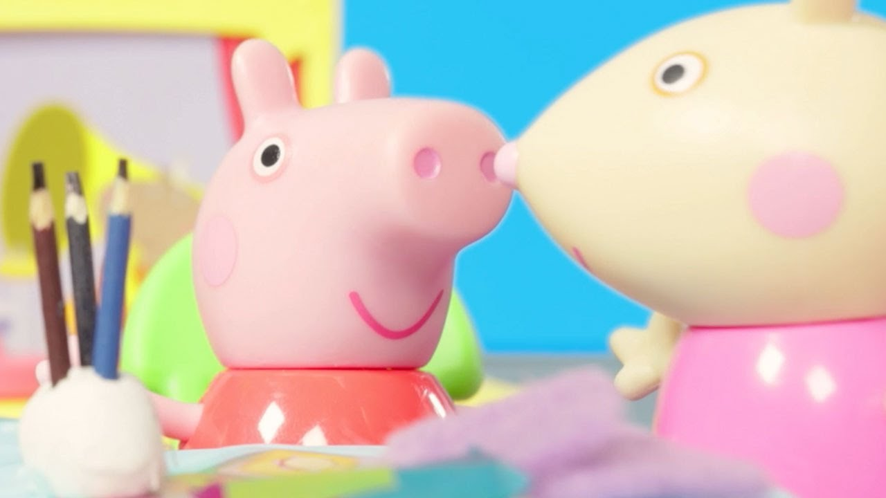 Peppa Pig Making Masks with Friends   Peppa Pig Stop Motion   Peppa Pig Toy Play