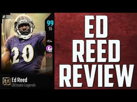 How Good is 99 Overall Ed Reed? MUT 18 Ultimate Legend Card Review