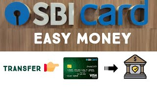 #SBICreditCard #EasyMoney  How To Transfer Money  From SBI Credit Card To Bank Account in Tamil