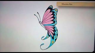 Como dibujar una mariposa - Art Academy Atelier Wii U | How to draw a butterfly