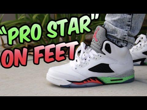 07fd31676cf3 Jordan Retro 5 ProStar REVIEW w On Foot - YouTube