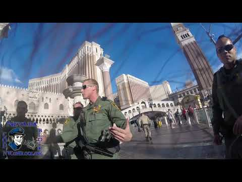 Refusing to Answer Police Questions at Las Vegas Venetian During Tashii Brown Chalk Protest