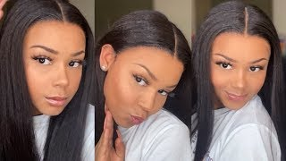 HOW TO: APPLYING A WIG AFTER CUTTING THE LACE | EAYONHAIR