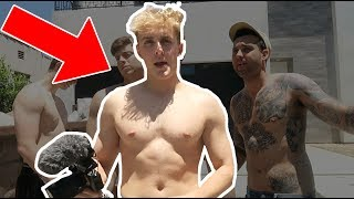 MEETING JAKE PAUL AT THE TEAM 10 HOUSE! EPIC CAR WASH! (WITH FANS)