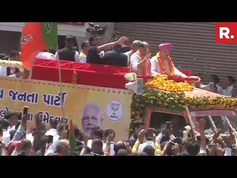 BJP Chief Amit Shah's Mega Roadshow In Ahmedabad, Gujarat | #Shah2019Nomination