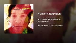 A Simple Answer (Live)