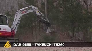 DAH-065B - Takeuchi TB260 - mulcher for mini-excavator - www.DENISCIMAF.com