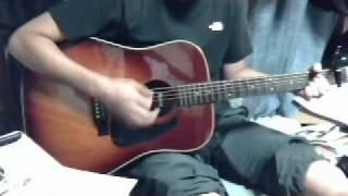 やってみました。ギターへたくそ。コーセーのCMでしたっけ。